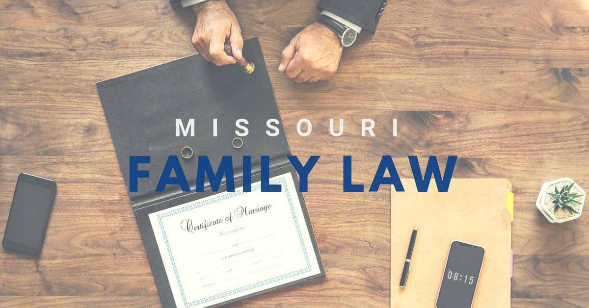 Missouri Family Law header